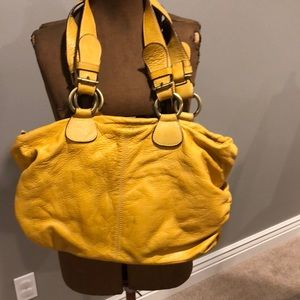 Nuovedive yellow Italian leather purse